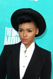 Janelle Monae arriving at the 2012 MTV Movie Awards Stock Photography