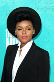 Janelle Monae arriving at the 2012 MTV Movie Awards Stock Photo