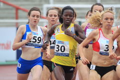 Janet Achola - 1500 metres run Stock Images