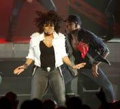 Janet Jackson presteert in overleg royalty-vrije stock afbeeldingen