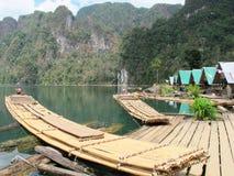 Jangada de bambu Foto de Stock Royalty Free