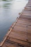 Jangada de bambu Foto de Stock