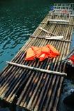 Jangada de bambu Imagem de Stock Royalty Free