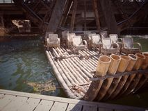 Jangada de bambu fotografia de stock
