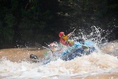 Jangada do flutuador a jusante Fotografia de Stock