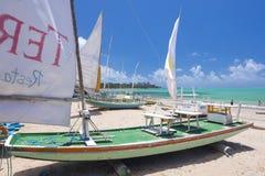 Jangada fishing boats Royalty Free Stock Image