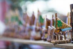 Jangada liten segelbåt, symbol av tillståndet av Ceara, Brasilien för palangagata för stad lithuanian lopp för tema royaltyfri foto