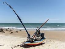 Jangada sur la plage Photos libres de droits