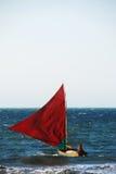 Jangada, traditionele Braziliaanse boot Royalty-vrije Stock Afbeeldingen