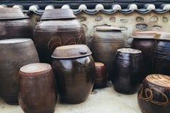 Jangdokdae,韩国传统瓶子 免版税图库摄影