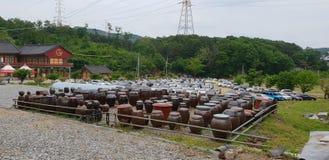 Jangdokdae w Koreańskiej świątyni fotografia stock