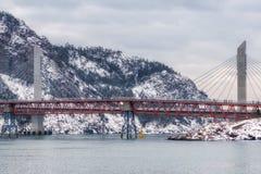 Jangja-Inselbrücke im Winter Lizenzfreie Stockbilder