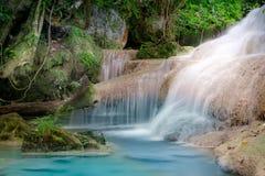 Jangle landscape with Erawan waterfall. Kanchanaburi, Thailand Royalty Free Stock Images