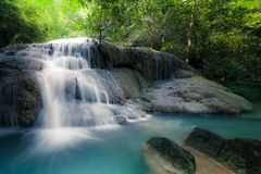 Jangle landscape with Erawan waterfall. Kanchanaburi, Thailand Royalty Free Stock Image