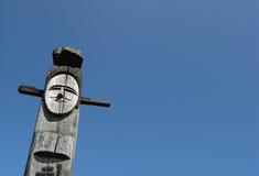 jangseung dell'idolo di legno Fotografie Stock Libere da Diritti
