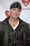 Jani Lane on the red carpet. Jani Lane of Warrant at the 4th Annual Musicares MAPfund Benefit Concert at the Henry Fonda Music Box Theatre in Hollywood in May stock photos