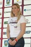 Janica Kostelic,历史的最了不起的滑雪竟赛者 免版税库存图片