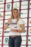 Janica Kostelic,历史的最了不起的滑雪竟赛者 免版税图库摄影