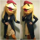 Janice Muppet-kostuum royalty-vrije stock foto's