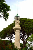Janiculum Hill lighthouse Rome Italy Royalty Free Stock Images