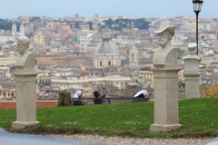 Janiculum hill in Rome Royalty Free Stock Photography