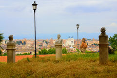 Janiculum Hill sight Rome Italy Royalty Free Stock Photography