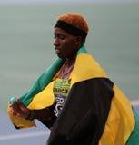 Janieve Russell från den Jamaica vinnaren av hur för 400 M. Arkivfoton