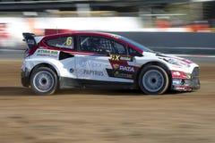 Janis BAUMANIS Barcelona FIA World Rallycross Royalty-vrije Stock Fotografie