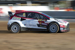 Janis BAUMANIS Barcelone FIA World Rallycross Photographie stock libre de droits
