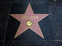 Janis Joplin-` s Stern, Hollywood-Weg des Ruhmes - 11. August 2017 - Hollywood Boulevard, Los Angeles, Kalifornien, CA Stockbilder
