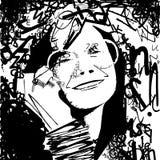 Janis Joplin som består av bokstäver Royaltyfri Illustrationer