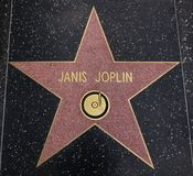 Janis Joplin star on the Walk of Fame Royalty Free Stock Image