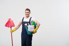Janitor που στερεί σας από το ρύπο Στοκ Φωτογραφίες