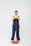 Janitor που στερεί σας από το ρύπο Στοκ φωτογραφία με δικαίωμα ελεύθερης χρήσης
