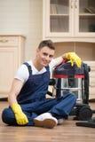 Janitor που στερεί σας από το ρύπο Στοκ φωτογραφίες με δικαίωμα ελεύθερης χρήσης