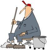 Janitor bierze przerwę Fotografia Stock