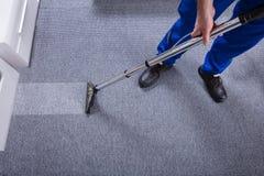 Janitor Cleaning dywan zdjęcia royalty free