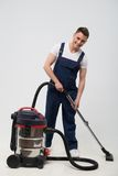 Janitor depriving you from dirt Stock Image