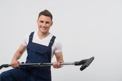 Janitor depriving you from dirt Stock Images