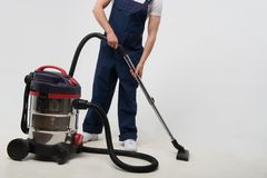 Janitor depriving you from dirt Royalty Free Stock Photo