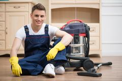 Janitor depriving you from dirt Stock Photography