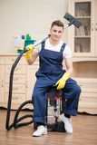 Janitor depriving you from dirt Royalty Free Stock Photos