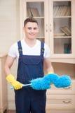 Janitor pozbawia ciebie od brudu Obraz Royalty Free