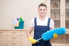 Janitor pozbawia ciebie od brudu Obrazy Stock