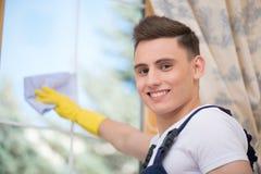 Janitor pozbawia ciebie od brudu Zdjęcie Royalty Free