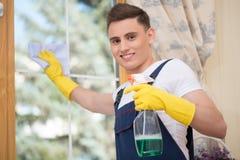 Janitor pozbawia ciebie od brudu Fotografia Royalty Free