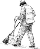 Janitor w miasto parku Zdjęcia Royalty Free