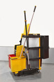 Janitorial cart Royalty Free Stock Photo