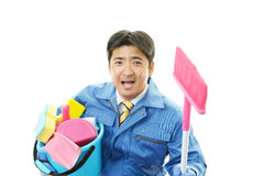 Janitorial cleaning service Royalty Free Stock Images