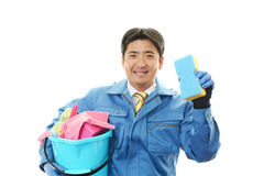 Janitorial cleaning service Stock Image